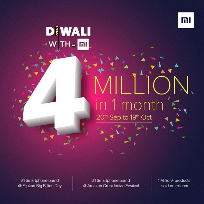فروش 4 میلیون گوشی شیائومی در 1 ماه