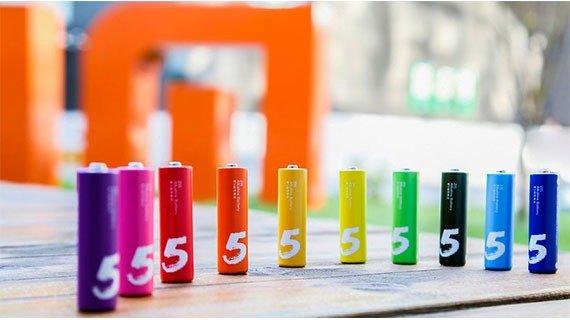 باتری رنگینکمانی قلمی شیائومی – Mi Rainbow 5 AA Batteries