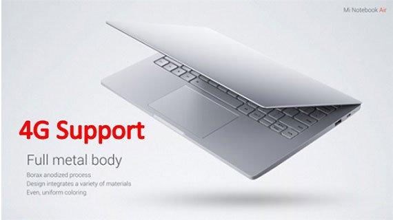 لپ تاپ جدید شیائومی با پشتیبانی از شبکه 4G