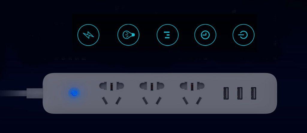 سه راهی برق هوشمند سه سوکت سه USB دار شیائومی