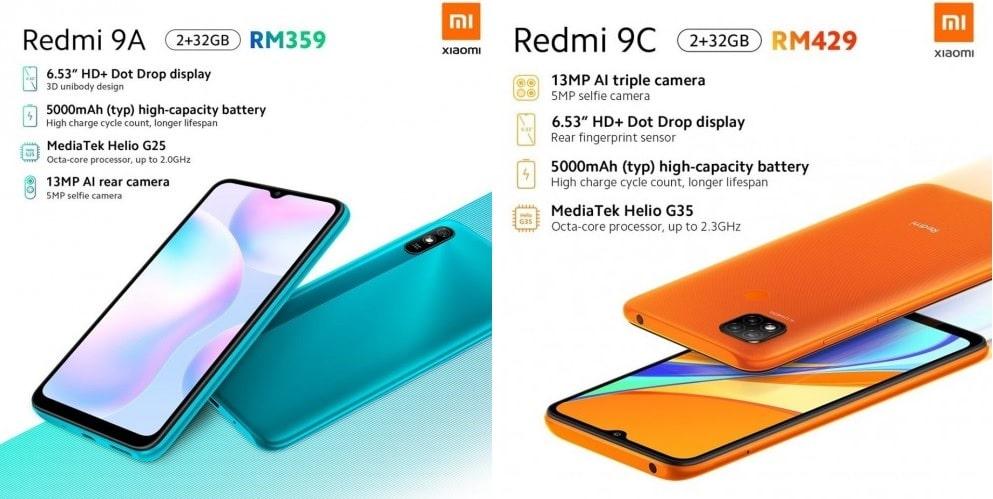 شیائومی و معرفی دو گوشی هوشمند Redmi 9A و Redmi 9C