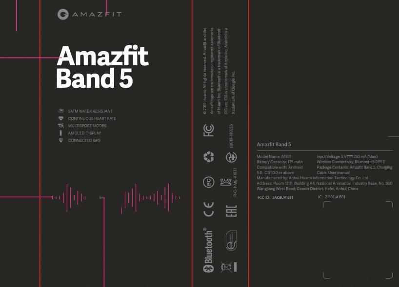 دستبند تناسب اندام Mi Band 5 تحت عنوان برند Amazfit