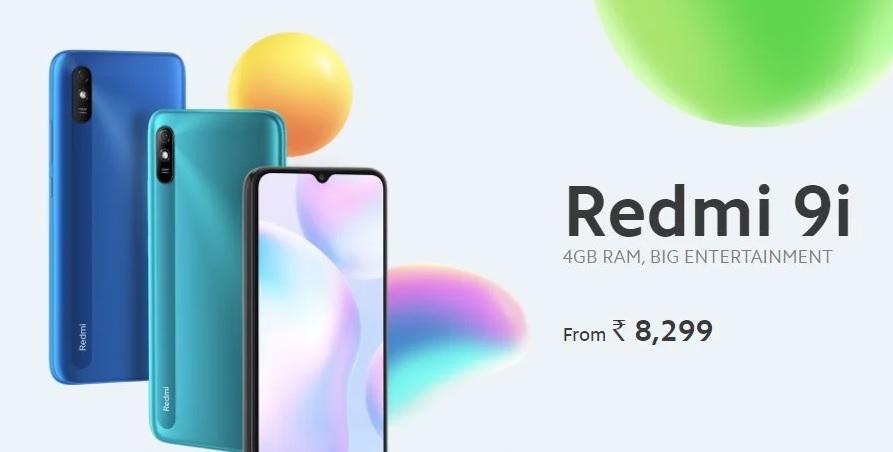 گوشی Redmi 9i با 4 گیگابایت رم و 128 گیگابایت فضای ذخیره سازی