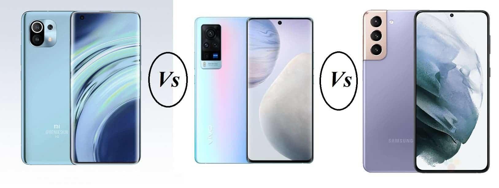 مقایسه طراحی Xiaomi Mi 11 و Vivo X60 Pro و +Samsung Galaxy S21