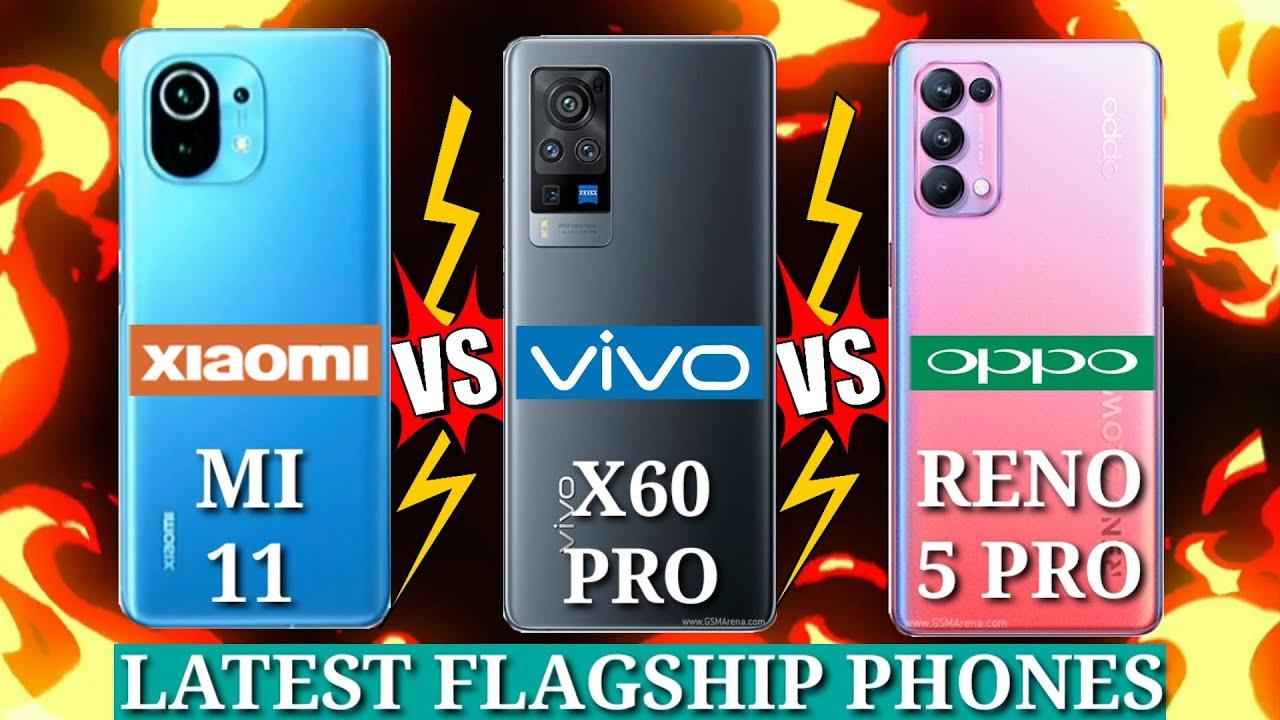 مقایسه گوشی های شیائومی Mi 11 و سامسونگ گلکسی S21 پلاس و ویوو X60 پرو