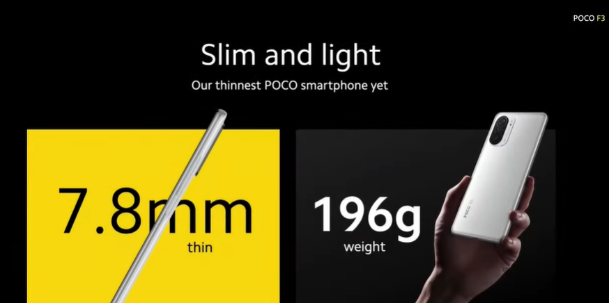 مشخصات فنی گوشی پوکو F3
